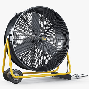 3D professional portable fan master model