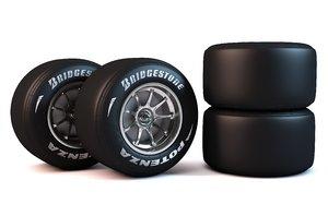 formula 1 wheel 3D model
