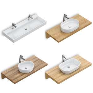 3D set washbasins ravak 61