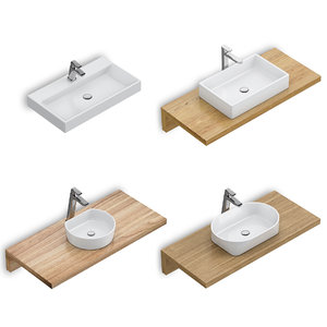 3D model set washbasins ravak 60