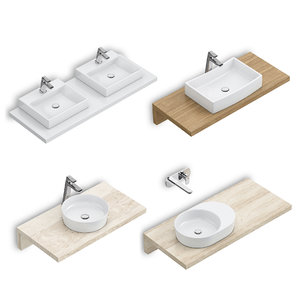 3D set washbasins ravak 59 model