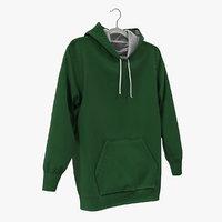 green hoodie 3D