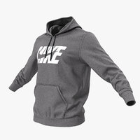 3D grey nike hoodie lowered