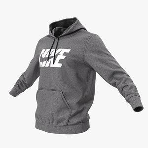 3D grey nike hoodie lowered