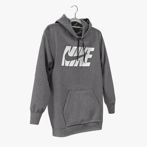 nike grey hoodie model