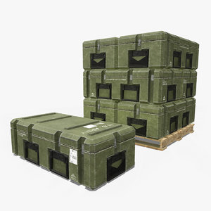 military crate contain 3D