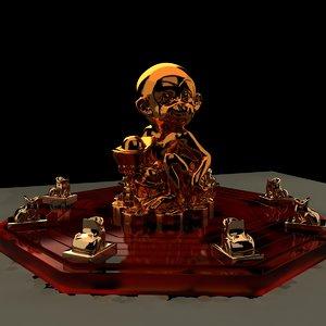 chinese monkey 3D model