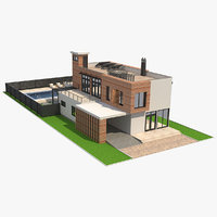 house contemporary 3D model