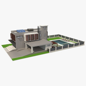 3D model house contemporary