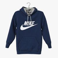 3D nike blue hoodie