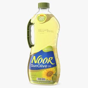 noor sun olive oil 3D
