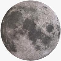 3D planet moon