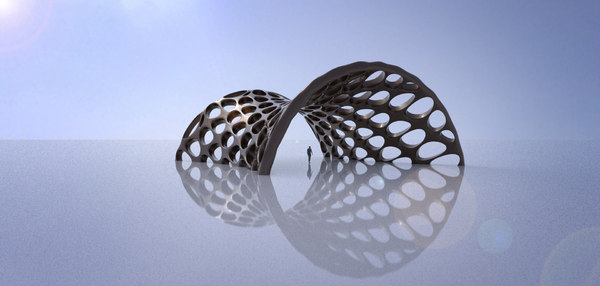 canopy structure perforations 3D