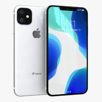 3D apple iphone 11r white model