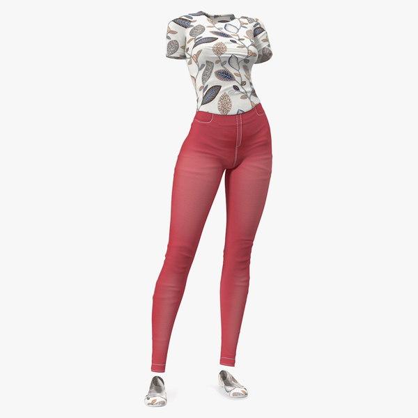 3D casual women summer suit