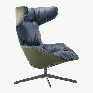 moroso armchair chair 3D