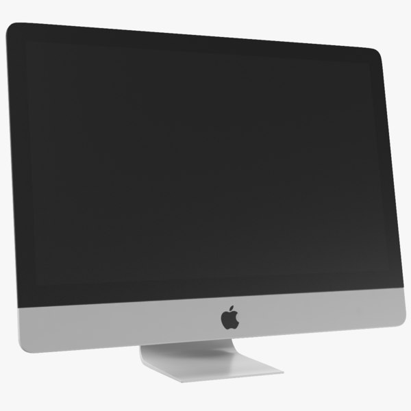 3D real imac monitor model