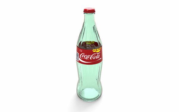 bottle coca-cola 3D