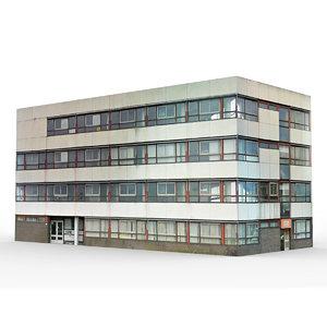 3D office building 2 model