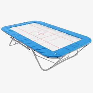 3D model trampoline realism