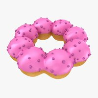 3D model realistic pon ring donut