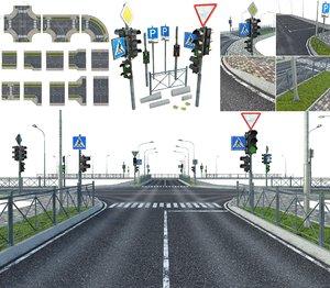 3D streets model