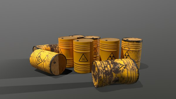 pbr barrel toxic 3D model