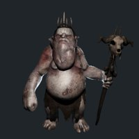 3D character goblin king model