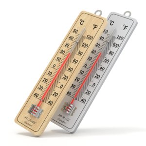 3D thermometer wall model