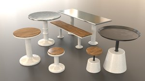 marble furniture 3D