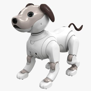 3D model aibo robot sony