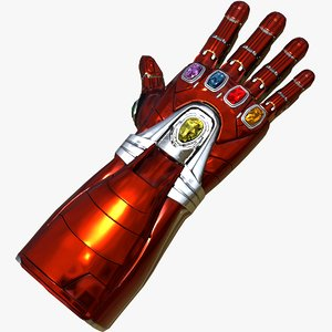 nano gauntlet marvel universe 3D model