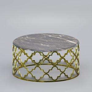 3D table wood model