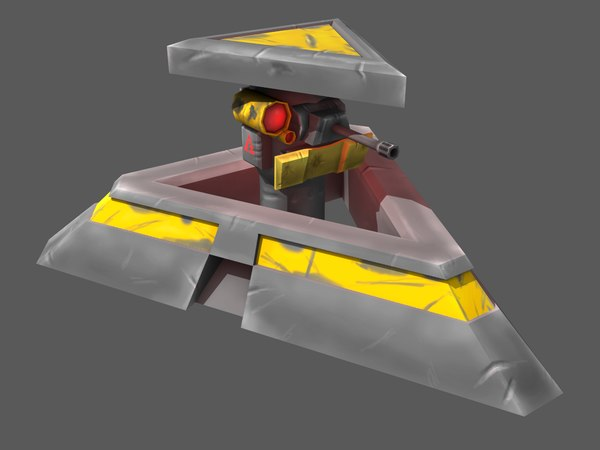 turret single gun 3D
