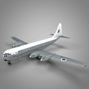 boeing 377 stratocruiser israel 3D