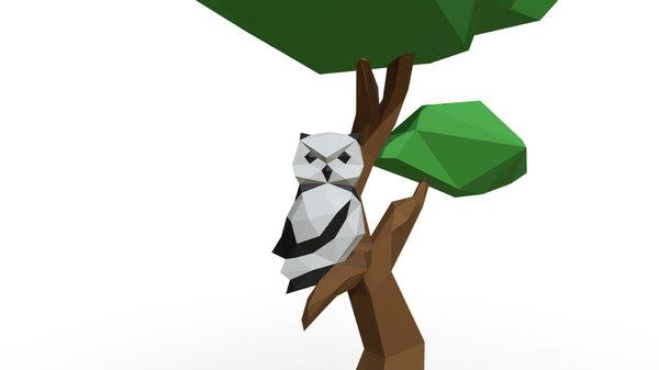 printed owl 3D model