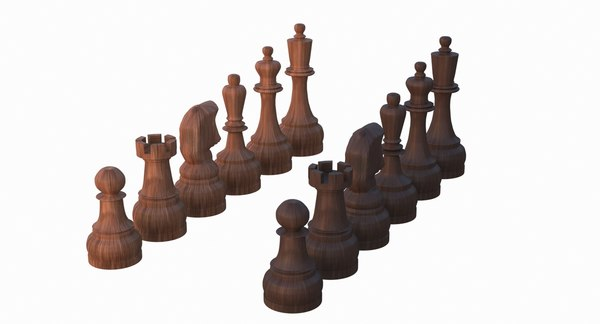 pieces king chess set model