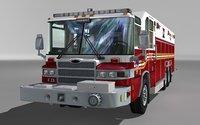 heavy rescue truck 3D model