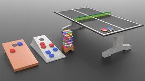 outdoor games 3D model