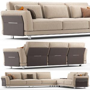 3D sofas seat furniture model