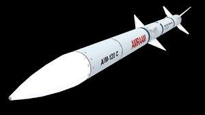 missile aim-120 c 3D