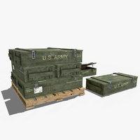 military crate 3D model
