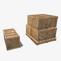 3D military crate contain model