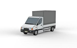 3D small truck model