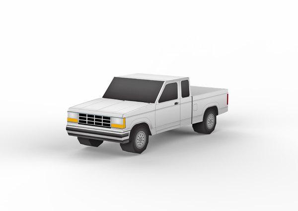 pickup car vehicle 3D