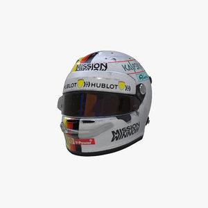 3D model vettel 2019 helmet