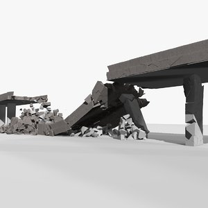 3D bridge collapse animations 1