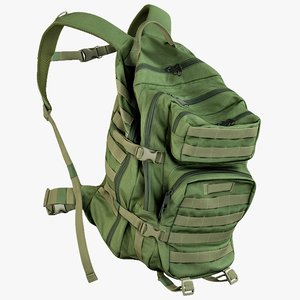 3D realistic camping backpack 1