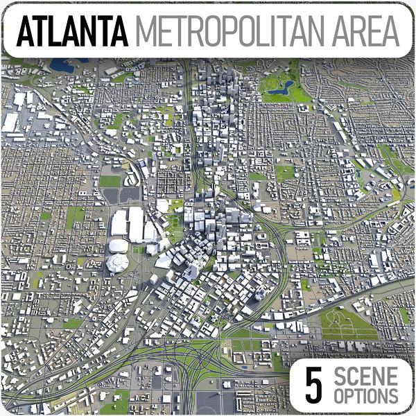 3D city atlanta -