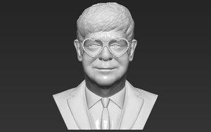 3D elton john bust ready model